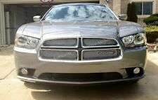 CHROME MESH GRILLE GRILL KIT For DODGE CHARGER 11 12 13 14 2011 2012 2013 2014