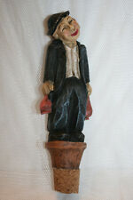 Vintage Wine Bottle Stopper Ceramic (?) Collectible Figural, Excllnt Condtn!