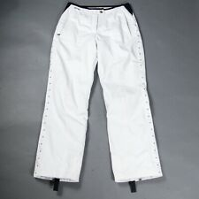 Spyder Snow Ski Pants XTL 10,000 Thinsulate Soft Poly w Stretch White 10