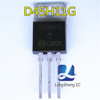 10PCS D45H11G Encapsulation:TO-220,Complementary Silicon Power Transistors new
