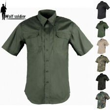 Men's Military Short Sleeve Shirt Camouflage Casual Tactical Combat Army Shirts