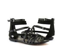 Sam Edelman Ganesa Gladiator Black Leather Back Zip Strappy Sandal NEW Size 6
