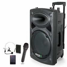 Ibiza Port15uhf-bt Enceinte portable 800 W Noir