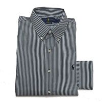 Ralph Lauren Mens Stretchable Shirt Classic Fit Performance White Grey Stripe M