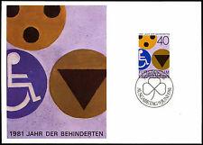 Liechtenstein 1981 année des personnes handicapées carte maximum #C38818
