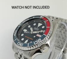 Ceramic Bezel Insert for Seiko SKX 007 009 dark blue and red colour seamaster...