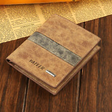 Fashion Men's Bifold Leather Slim Wallet ID Credit Card Holder Cash package Gift
