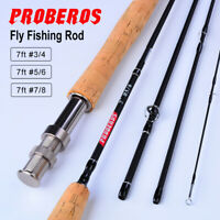 Carbon Fiber Fly Fishing Rods 7FT&9FT 4 Section 3/4 5/6 7/8 WT Cork Hand Fly Rod