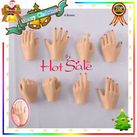 5 Pairs 1/6 Female Hand Types Hand Models For 12'' PHICEN Action Figure A Brown