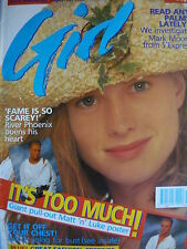 GIRL MAGAZINE 30/4/89 - RIVER PHOENIX - WENDY & LISA - THEN JERICHO