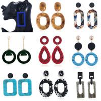 Charming Simple Women Acrylic Geometric Long Drop Dangle Earrings Jewelry Gift