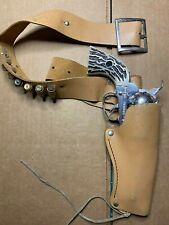 Vintage Mattel Fanner Shootin Shell Cap Gun and Leather holster