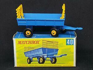 Matchbox Lesney Transitional MB40-C1: Hay Trailer, Type G Box, MINT Trailer&Box