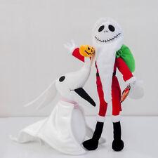 3PCS Disney Nightmare Before Christmas Zero & Jack Skellington Santa Plush Toys