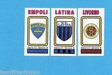 PANINI CALCIATORI 1978/79-Figurina n.520- EMPOLI+LATINA+LIVORNO -SCUDETTO-Rec