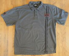 Harley-Davidson Gray Short Sleeve Embroidered Men's Polo-Large