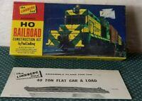 The Lindberg Line HO Scale Railroad Kit 40 Ton Flat Car & Load Rock Island