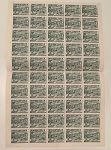 1951 Philippines Stamps - Scott# 554a  Peace Fund 5c Sheet of 50 MNH OG
