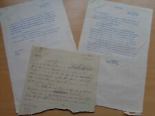 WW2 (1943) British Army letters - Colonel Wood & Brigadier W.H.York (PAI Force)