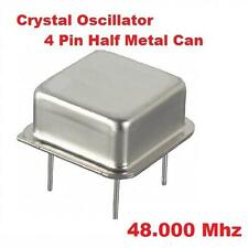 48.000Mhz 48.000 Mhz CRYSTAL OSCILLATOR HALF CAN ( Qty 10 ) *** NEW ***