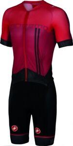 Castelli San Remo 3.2 Men's Speedsuit Cycling Skinsuit Size Large Red