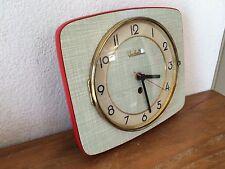 superbe horloge pendule formica vedette verte et rouge  Des Années 50's/ 60's