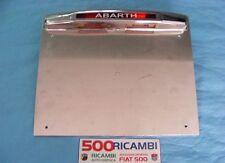 FIAT 500 F/L/R PORTA TARGA SPORTIVO ABARTH IN METALLO CROMATO CON FANALE LUCE