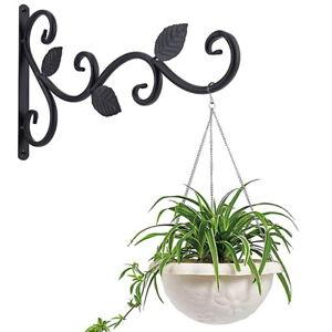 Wall Mount Plant Hanging Hook Leaf Bracket Hanger Rack Holder For Flower Pot