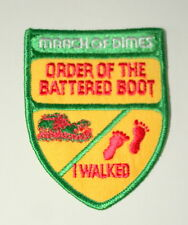 Vintage March Of Dimes Order Of the Battered Boot Boy Scouts? Patch NOS New