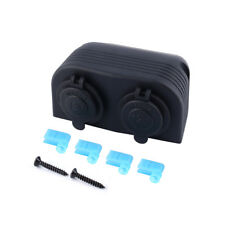 12V Car Boat Motorbike Cigarette Lighter Socket Power Plug Dual Port Waterproof