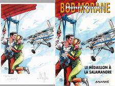 MYTHIC + BOB MORANE HC 37 + DESSIN ORIGINAL + DÉDICACE MÉDAILLON À LA SALAMANDRE