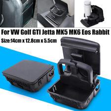 Fit For Jetta MK5 Golf MK6 GTI Fit For VW Black Rear Armrest Central Cup Holder