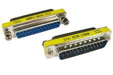 Adaptador de Conectores 4 PARALELO/Serial 25 CLAVIJAS DB25 HEMBRA / Macho