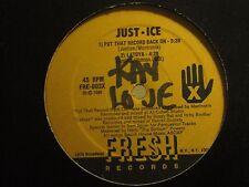 "JUST-ICE PUT THAT RECORD BACK ON / LATOYA 12"" ORIG '86 FRESH OLD SCHOOL RAP VG+"