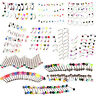 20X Eyebrow Lip Tongue Nose Navel Belly Button Rings Body Piercing Jewelry