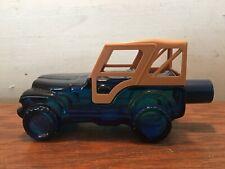 Avon Trailblazer Trail Blazer Cologne Blue Glass Jeep 3 ounces Full Bottle