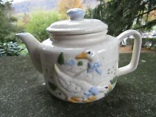 """Vintage Ceramic Teapot- Two Different Geese Scenes ~ 8.0"""" x 5.0"""""""
