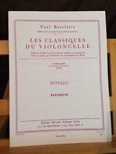 Paul Bazelaire Rondo Boccherini partition violoncelle et piano éditions Leduc