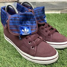 UK5 Womens Adidas Honey Trefoil Fold Down Hi Top Boots - Retro Style Trainers
