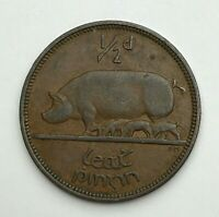 Dated : 1953 - Ireland - Half penny - 1/2d - Irish Coin