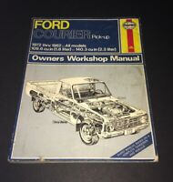 Haynes Ford Courier Pick-up 1972-1982 Owners Workshop Manual #268