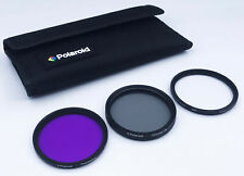 Polaroid 52mm 3-Piece UV/CPL/ND8 Filter Kit for Digital SLR Camera & Lens