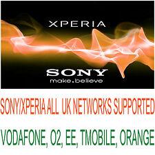 SONY/XPERIA XZ XA ULTRA XA Z5 PREMIUM VODAFONE EE TMOBILE O2 THREE UNLOCK CODE