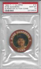 1992 7-11 Slurpee Coin #15 Ryne SANDBERG - PSA 10+++ low pop HOF