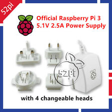 Official 5.1V 2.5A EU+Uk+AU+EU Plug USB Power Charger Adapter for Raspberry Pi 3