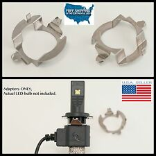 2PC H7 LED Bulb Holder clip Adapters Mercedes E-class CLK BMW 5 SERIES E350 528i