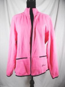 Yellowstone National Park Zippered Fleece Gear for Sports Women's - Pink Size XL