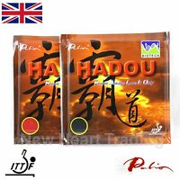 2 x Palio Hadou Biotech Table Tennis Rubbers with sponge ITTF approved 42-44