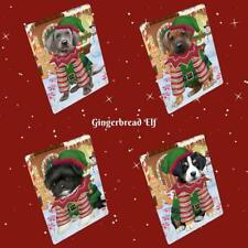 Christmas Gingerbread Elf Dog Cat Pet Photo Lovers Sherpa Fleece Blanket