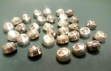LOT of 100 VTG CHROME/SILVER DOME SHANK BUTTONS NOS